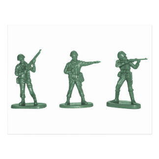 Green Army Men Postcard