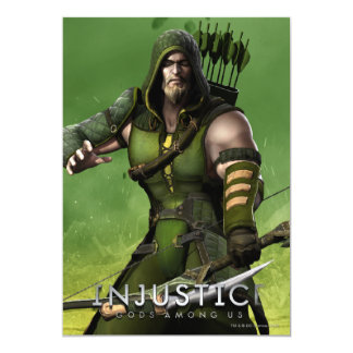 Green Arrow 13 Cm X 18 Cm Invitation Card