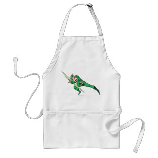 Green Arrow Crouches Apron