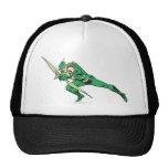 Green Arrow Crouches Cap