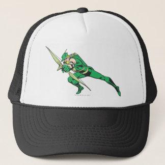 Green Arrow Crouches Trucker Hat