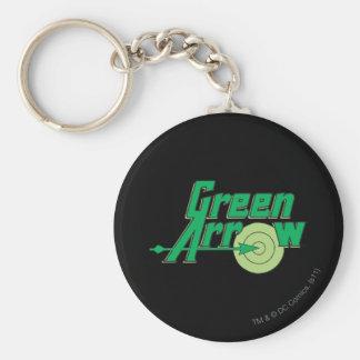 Green Arrow Logo Basic Round Button Key Ring