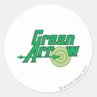 Green Arrow Logo Round Sticker