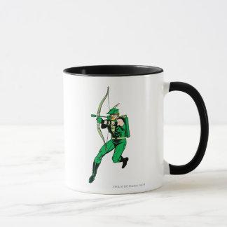 Green Arrow Shooting Arrow Mug