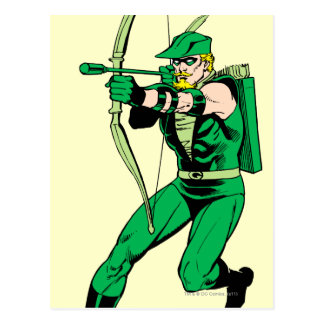 Green Arrow Shooting Arrow Postcard