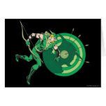 Green Arrow with Target 2 Greeting Card