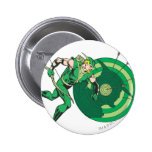 Green Arrow with Target 2 Pinback Buttons