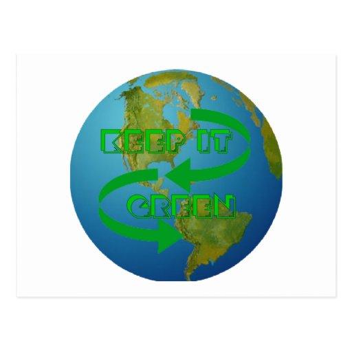 Green arrows Ecology Postcards
