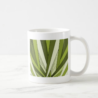 Green Art Deco Sunrise Design Basic White Mug