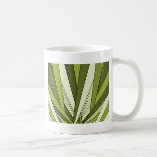 Green Art Deco Sunrise Design Mugs