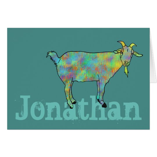 Green Art Goat on Things Design with your
