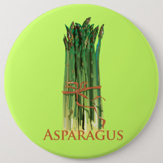 Green Asparagus 6 Cm Round Badge