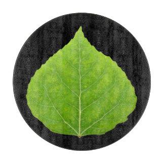 Green Aspen Leaf #11 Cutting Board