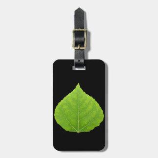 Green Aspen Leaf #11 Luggage Tag