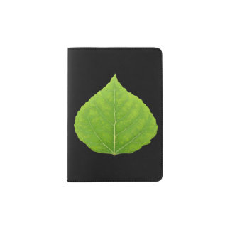 Green Aspen Leaf #11 Passport Holder