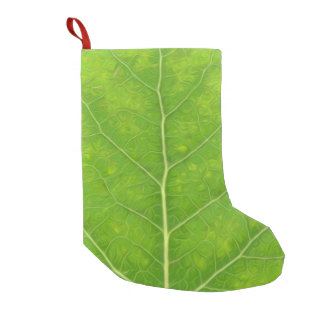 Green Aspen Leaf #11 Small Christmas Stocking