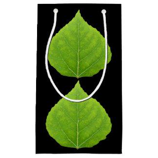 Green Aspen Leaf #11 Small Gift Bag