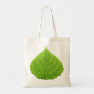 Green Aspen Leaf #11 Tote Bag