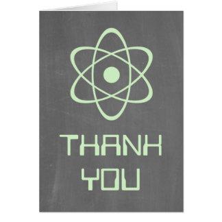 Green Atomic Chalkboard Thank You Card