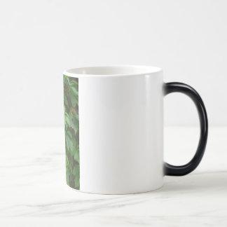 green autumn cute boho leaves celtic morphing mug