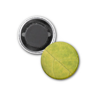 Green Autumn Leaf Magnet