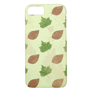 Green Autumn Leaves Pattern iPhone 7 Case