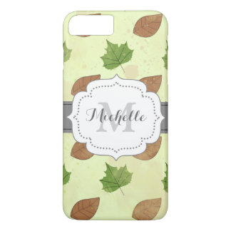 Green Autumn Leaves Pattern iPhone 7 Plus Case
