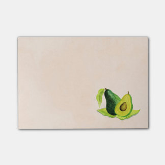Green Avocado Still Life Fruit in Watercolors Post-it® Notes