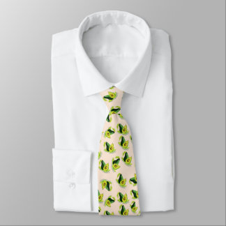 Green Avocados Watercolor Pattern Tie