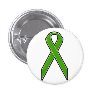 Green Awareness Ribbon 3 Cm Round Badge