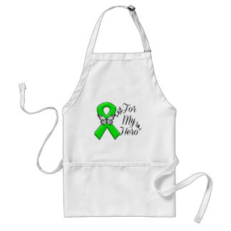 Green Awareness Ribbon For My Hero Standard Apron