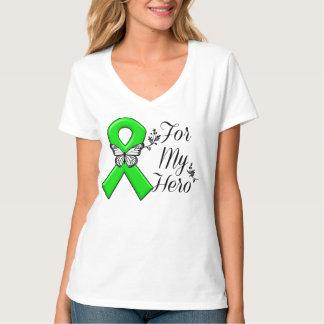 Green Awareness Ribbon For My Hero Tshirt