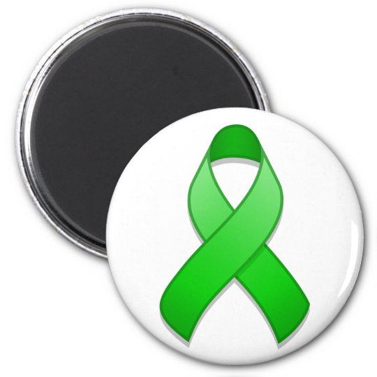 Green Awareness Ribbon Magnet