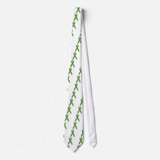 Green Awareness Ribbon Tie