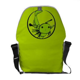 green axolotl circle bag courier bags