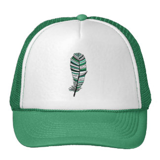Green Aztec Feather Hat
