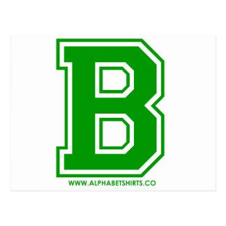 Green B Postcard