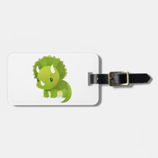 green baby cute dinosaur cartoon luggage tag