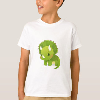 green baby cute dinosaur cartoon T-Shirt