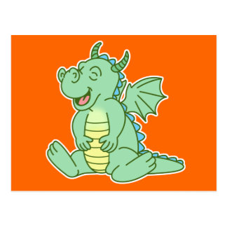 Green Baby Dragon Post Cards