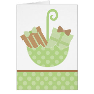 Green Baby Gifts in Umbrella Card