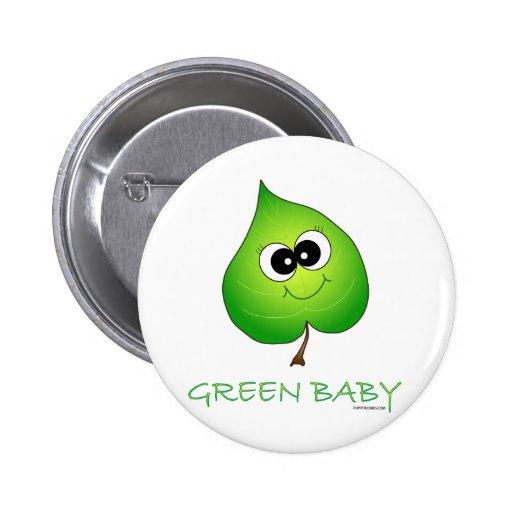 Green Baby Leaf Pins
