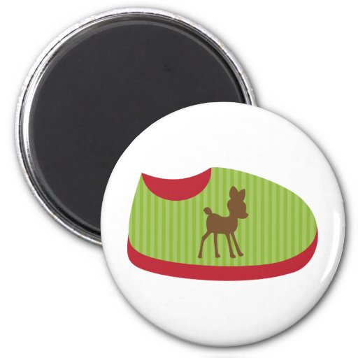 Green Baby Shoe Refrigerator Magnets