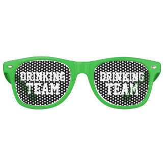 Green bachelor party shades drinking team glasses
