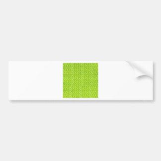 Green background bumper sticker