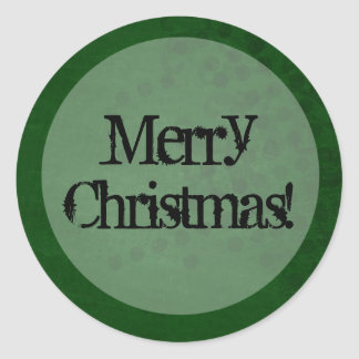 Green Background Merry Christmas Stickers