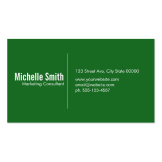 Green background with Divider Line Pack Of Standard Business Cards