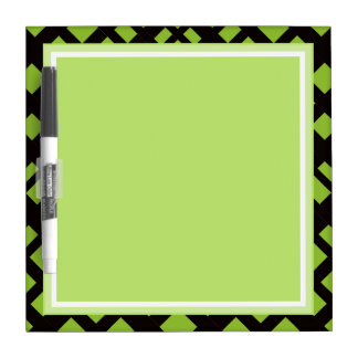 GREEN BACKROUND DRY ERASE BOARD IN GRILL PATTERN