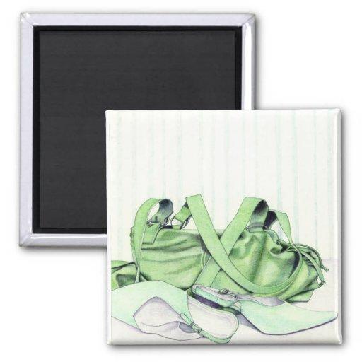Green Bag & Shoes Magnet