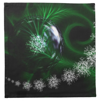 Green ball decorations christmas napkin